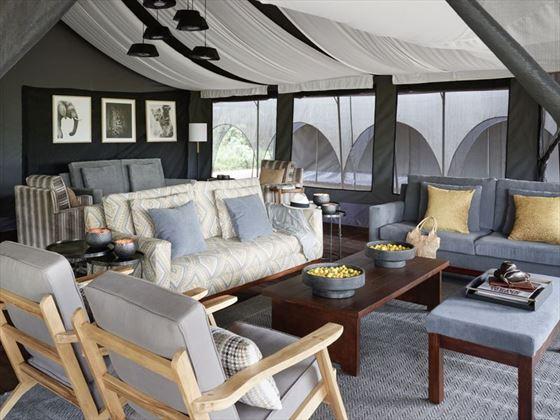 The main tent at Sanctuary Ngorongoro Crater Camp