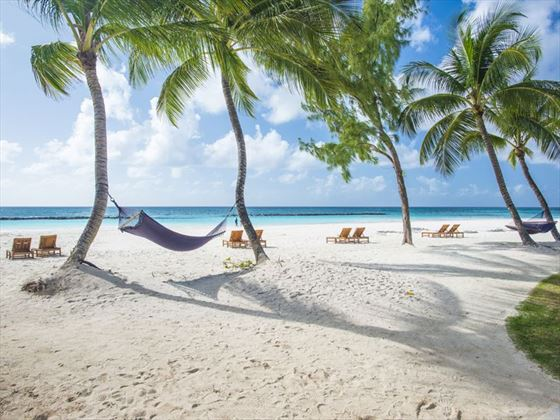 Sandals Royal Barbados, Deep Beach hammocks