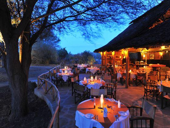 Satao Camp terrace dining
