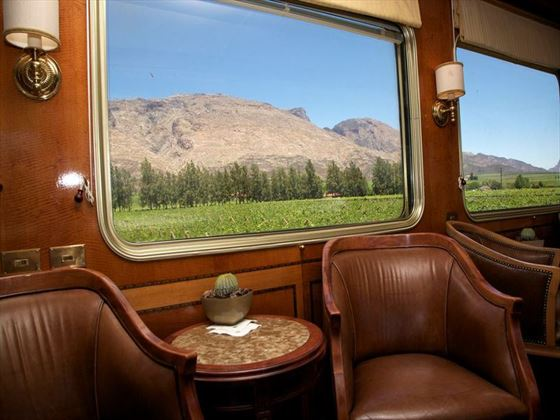 Scenic views and elegant interiors on the Blue Train
