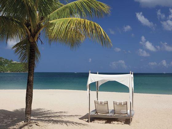 Beach seating, perfect for honeymooners