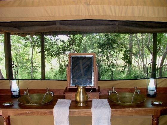 Selous Safari Camp bathroom