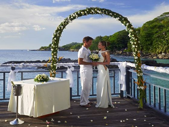 Bride & Groom at the Seychelles Northolme Resort