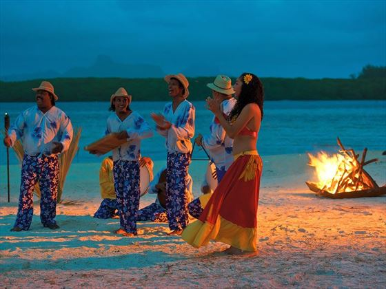 Evening performance on the beach