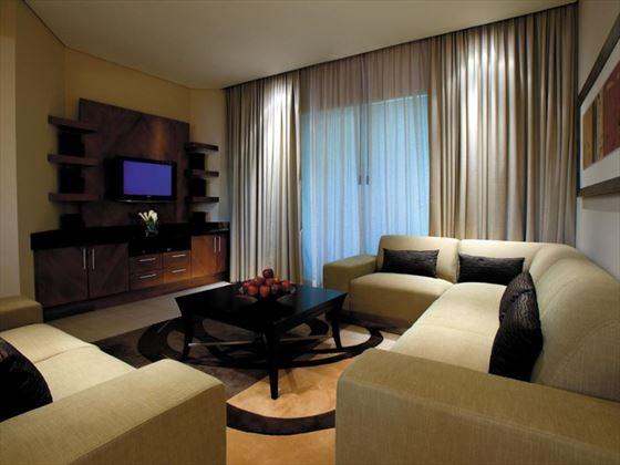 Shangri-La Qaryat al Beri Residences lounge area