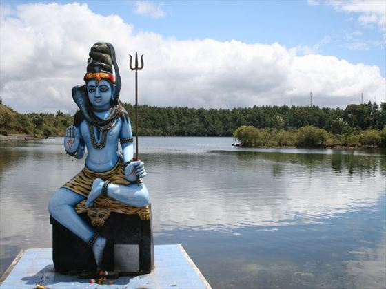 Shiva statue on the water