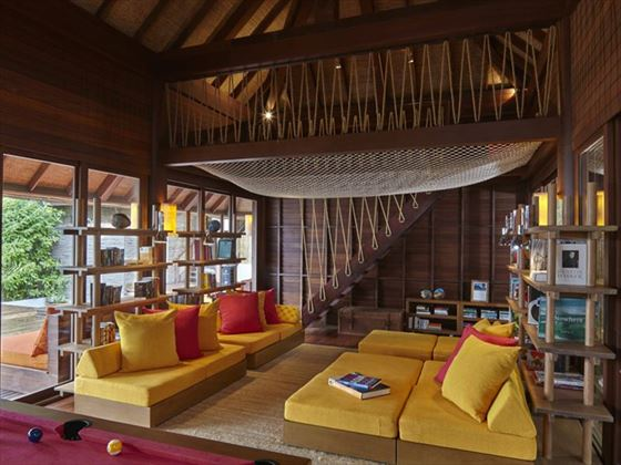 Library at Six Senses Samui