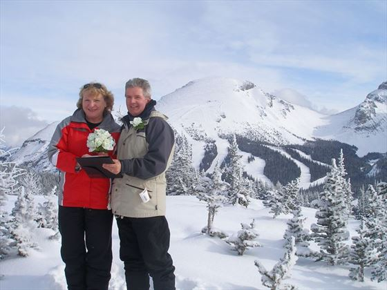 Bride & Groom on the mountain