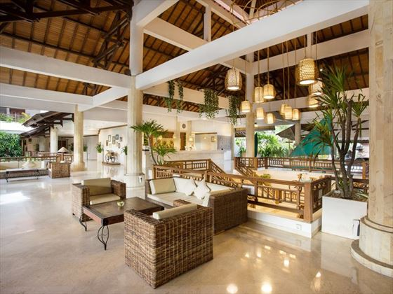 The lobby at Sol Beach House Melia Benoa