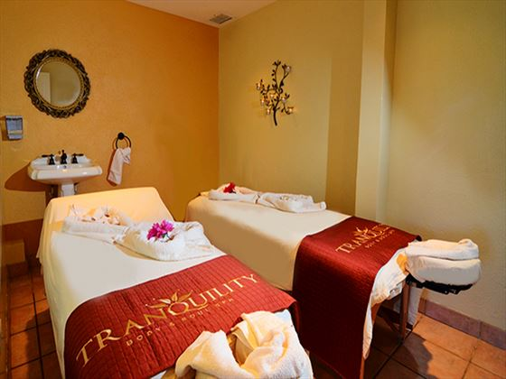 Spa treatment room at Long Bay Beach Resort and Villas