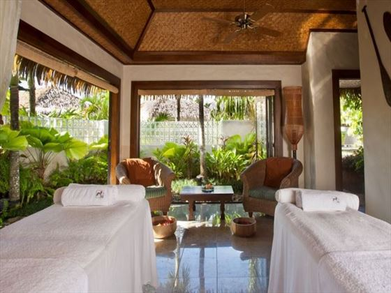 Spa treatment room at Te Manava Luxury Villas & Spa