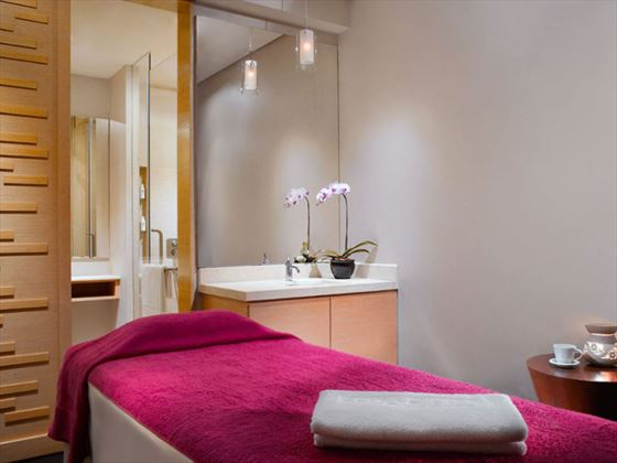 Spa treatment room at Traders Hotel Singapore by Shangri-La