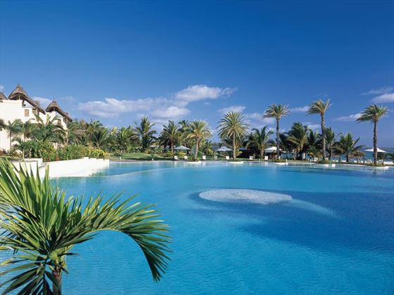 Spacious outdoor pool at Lux Belle-Mare