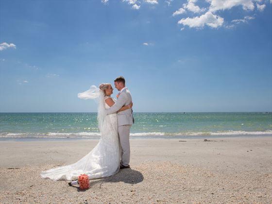Sheraton Sand Key Resort wedding couple