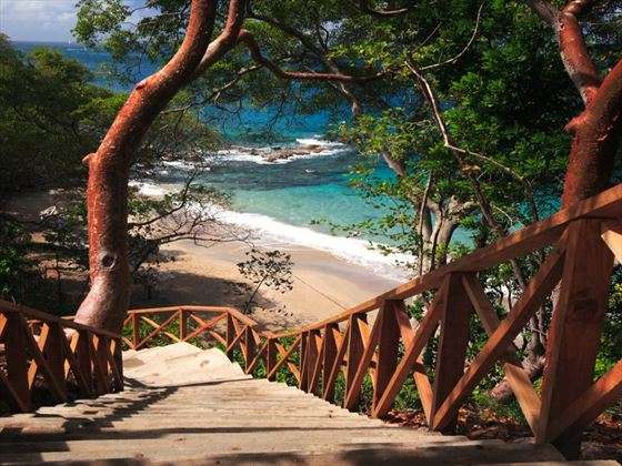 Stairs to the beach at Cap Maison