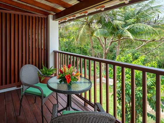 Garden View balcony at Sugar Cane Club Resort & Spa