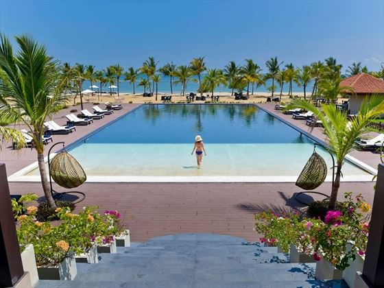 Sun Aqua Pasikudah pool and beach view