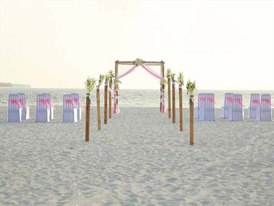 Your ceremony setting awaits at Sun Aqua Vilu Reef