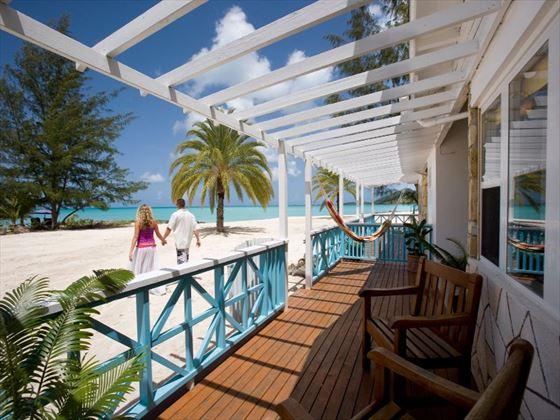 Beach views from Jolly Beach Resort