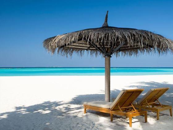 Sun Siyam beach loungers