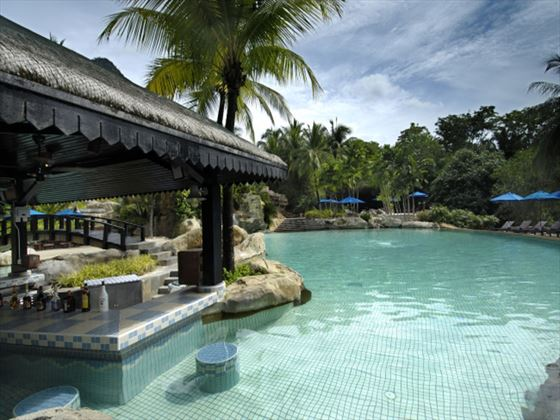 Sunken pool bar at Berjaya Langkawi Resort