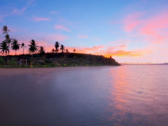 Sunset view of The Village Coconut Island