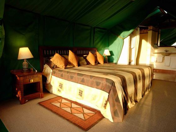 Sweetwaters Tented Camp tent interior