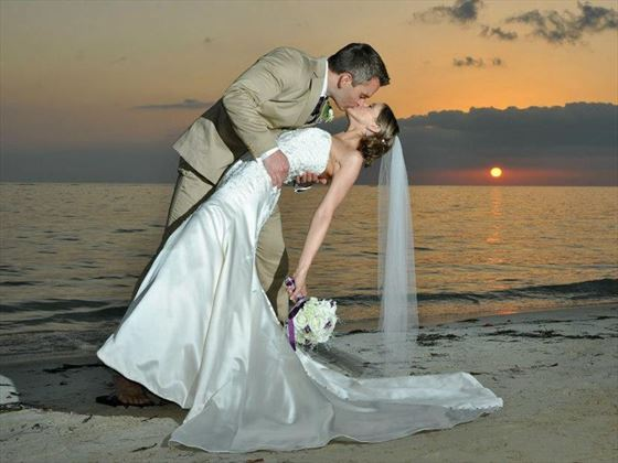 Bride & Groom at Sandals Whitehouse