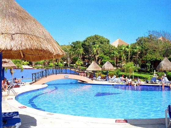 Swimming pool area at Allegro Playacar