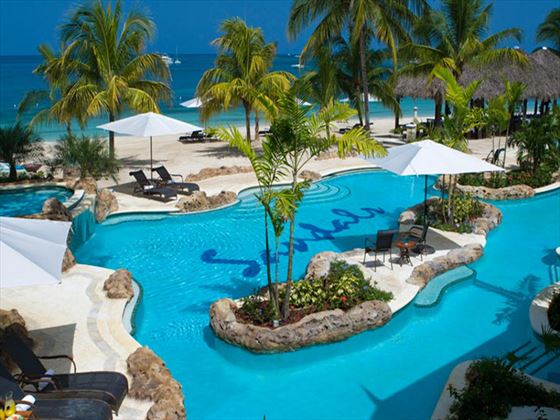Swimming pool at Sandals Negril Beach Resort & Spa