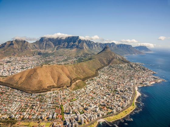 Table Mountain aerial view, Western Cape