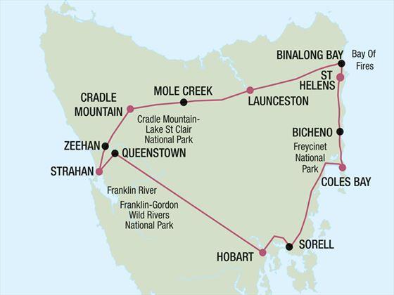 Grand Circle map