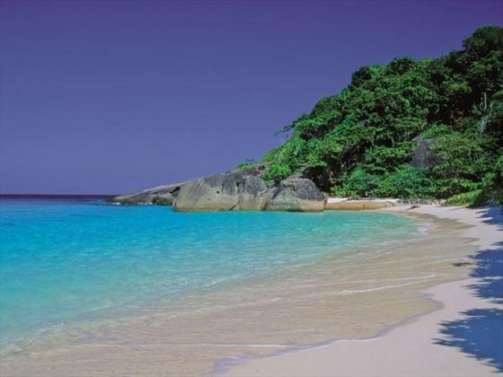 Beautiful beach on the Star Clipper cruise