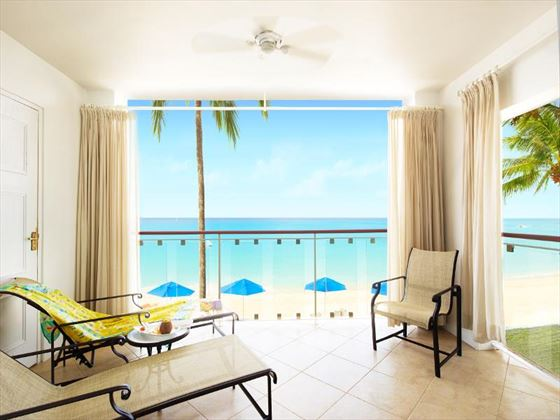 The Fairmont Royal Pavilion Deluxe Oceanfront private balcony