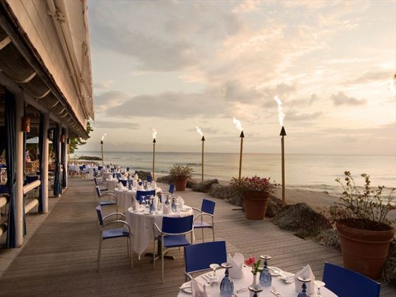 The Reef terrace at Almond Beach Resort