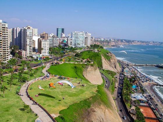 Lima's tropical Miraflores Neighbourhood