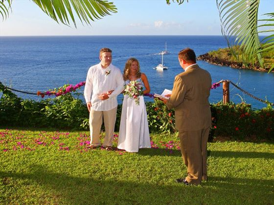 Outdoor ceremony at Ti Kaye Village