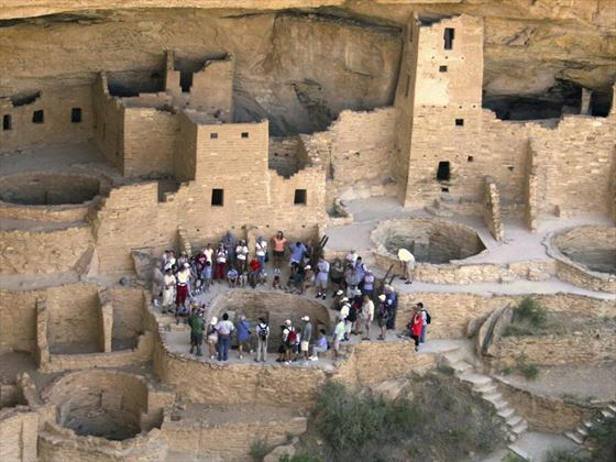 Touring the ruins in Mesa Verde National Park