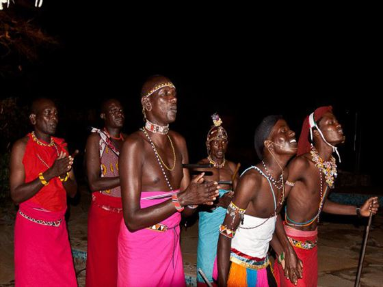 Traditional Samburu dancing at Samburu Sopa Lodge