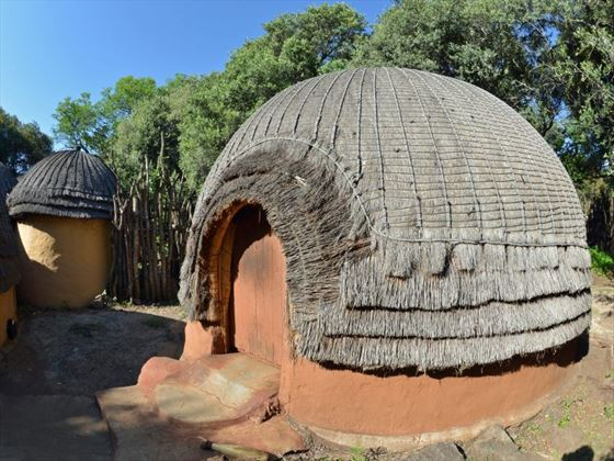Traditional Zulu tribal hut