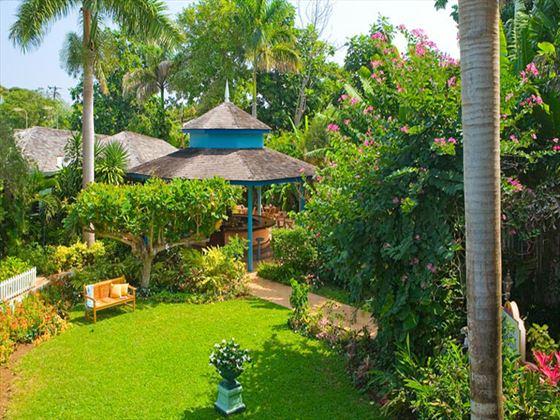 Artist's impression of tropical gardens at Sandals Inn