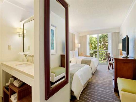 Twin room at Hilton Key Largo