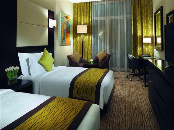 Twin room at Movenpick Jumeirah Lake Towers