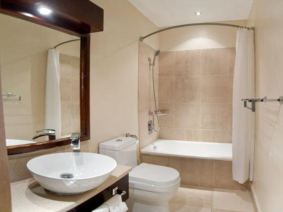 Typical bathroom at Island Inn Boutique Hotel