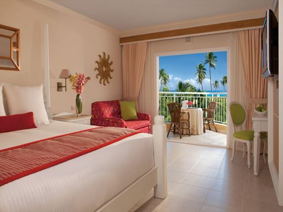 Typical bedroom at Dreams Punta Cana