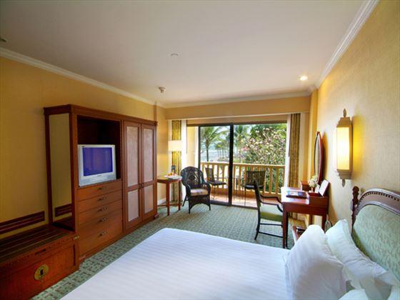 Typical bedroom at Dusit Thani Hua Hin