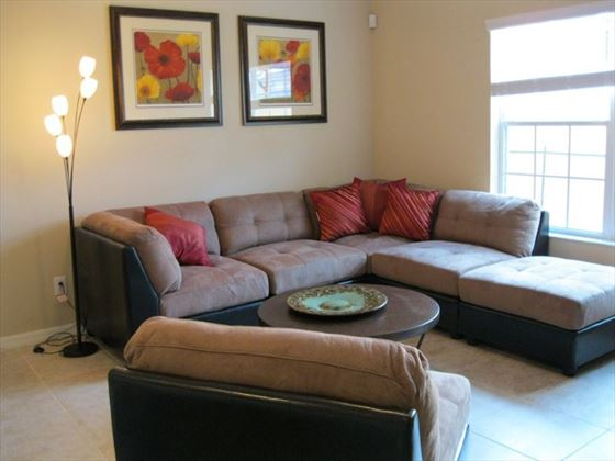 Typical Disney Area Platinum Town Home living room