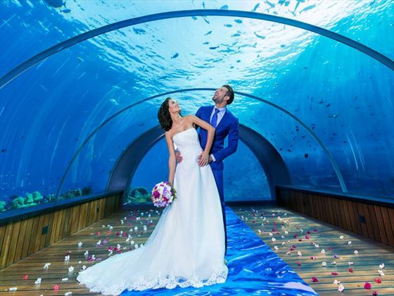 Vow renewal in the Undersea Restaurant