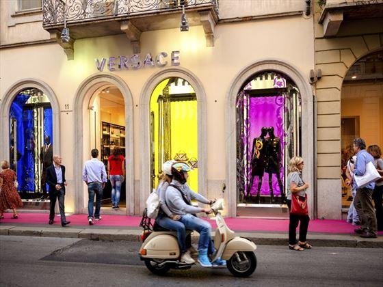 Versace, Milan on Montenapoleone 11