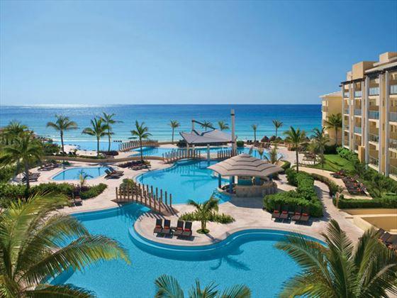 View of Now Jade Riviera Cancun resort